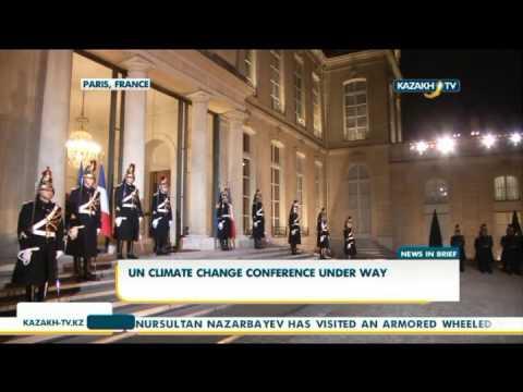 Конференция ООН по защите климата стартовала в Париже - Kazakh TV