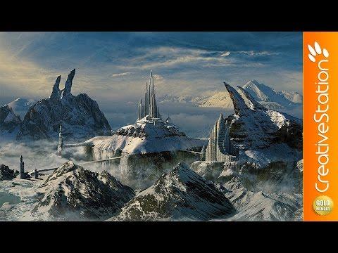 Snowy kingdome - Speed art (#Photoshop, #Vue)   CreativeStation GM