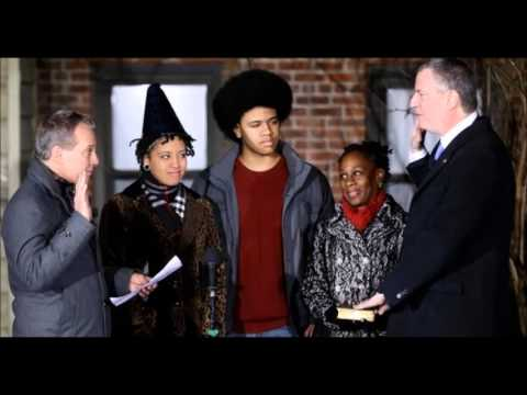 Bill De Blasio Sworn In As New Mayor Of New York City