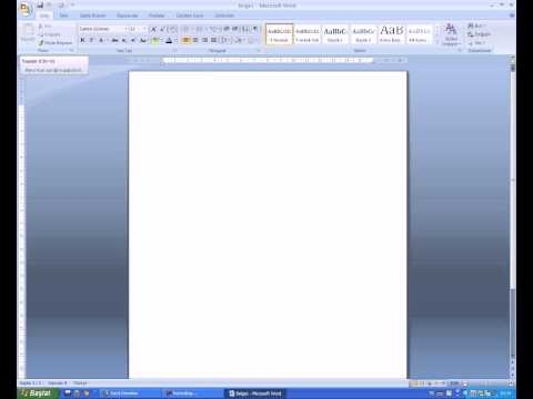 Как создать чистый лист в word