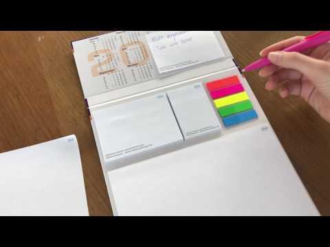 Hardcover: Hardflap mit verschieden Blocks und Filmmarkern