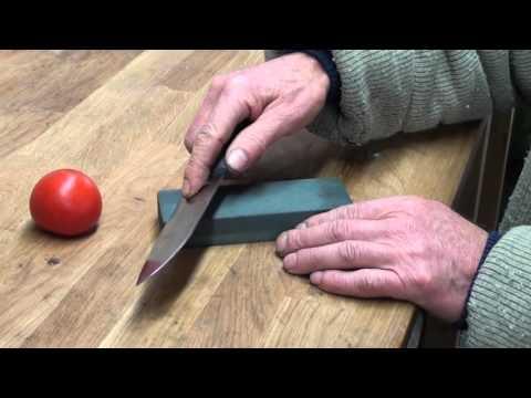 Slipa kökskniven med bryne