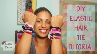 Elastic Hair Ties- DIY Tutorial-NO SEW - YouTube