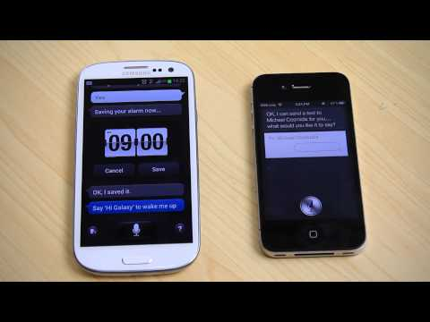 Galaxy S3 vs iphone 4S - After watching the video read our article here: http://ritchiesroom.com/2012/06/01/samsung-galaxy-s3-first-look/ Samsung have now got S Voice on the Samsung ...
