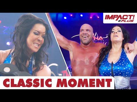 Chyna DESTROYS Jarretts in Rare TNA Appearance! (Sacrifice 2011) | Classic IMPACT Wrestling Moments