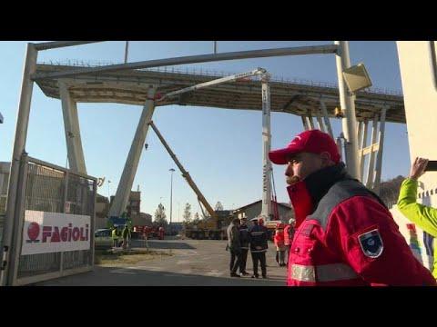 Γένοβα: Ξεκινά η κατεδάφιση της γέφυρας Μοράντι