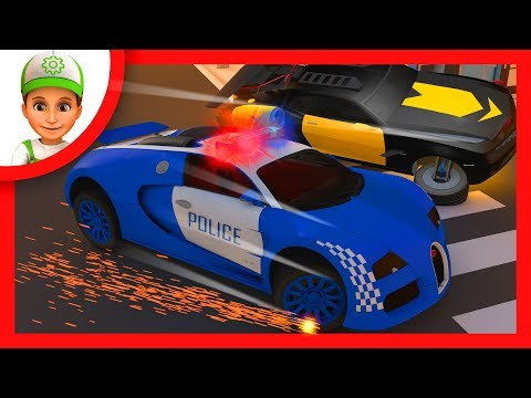 Police Chases. Police cars chase - bandit race full episodes. Monster machines for children