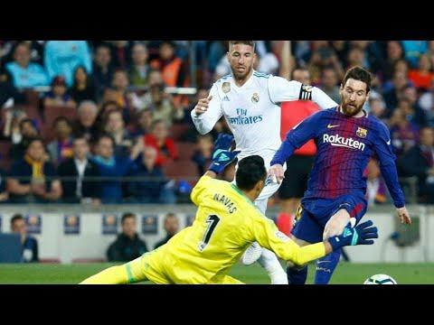 Messi encaró al español Sergio Ramos luego del manotazo en el Clásico (VIDEO)