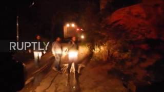 Chios Greece  city images : Greece: Flames, fireworks and violence erupt at Souda refugee camp