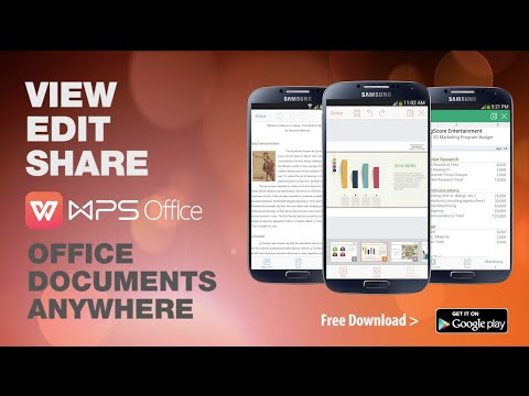 Video of WPS Office: PPT, DOC, XLS, PDF