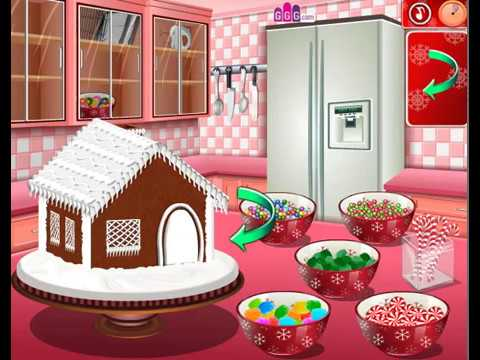 How To Play Gingerbread House Sara's Cooking Class Video Game Walkthrough