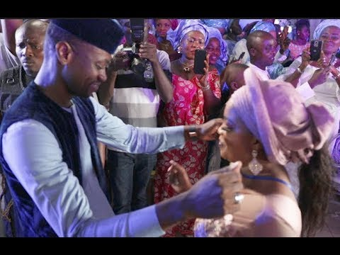 Lateef,Bidemi Kosoko,Bukola Adeeyo bridal train dance that got everyone talking at Wedding carnival