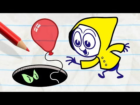 Pencilmate Tries to be Funny -in- DARK SIDE OF THE BALLOON - Pencilmation Cartoons for Kids