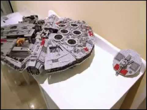 Building Lego 10179 Millennium Falcon Stop Motion