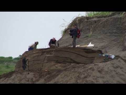 Смотреть онлайн: Останки древних людей обнаружили на Курилах