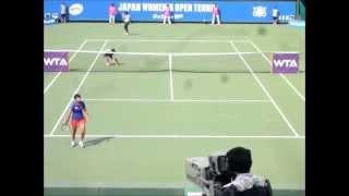 Tennis Highlights, Video - ■ JAPAN WOMEN'S OPEN TENNIS 2014 ■ Zarina DIYAS VS Luksika KUMKHUM part3