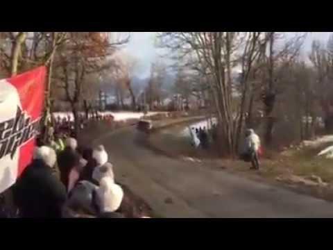WRC Rallye Monte Carlo 2015 - Loeb Crash SS8