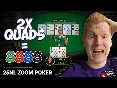 CRAYZ QUADS CRUISE ON $25 ZOOM [Twitch Poker]