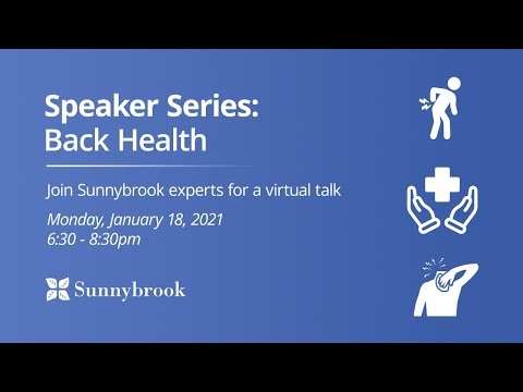 Speaker Series: Back Health