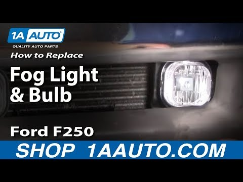 How to Install Replace Fog light and Bulb 01-04 Ford Super Duty F-250 F-350 1AAuto.com