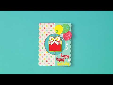 Hanging Gift Stand Up Birthday Card DIY | Sizzix