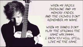 Video Thinking Out Loud by  Ed Sheeran LYRICS MP3, 3GP, MP4, WEBM, AVI, FLV Januari 2018