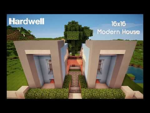 16x16 amazing modern house download made by hardwell for Amazing modern houses minecraft
