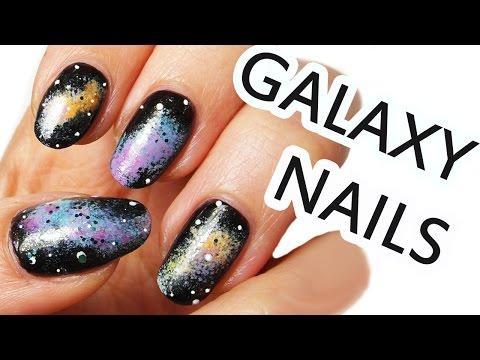 nail art - galassia colorata!