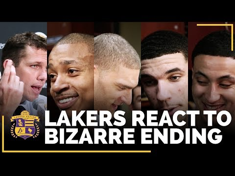 Video: Lakers Players React To Bizarre Ending In Win Over Magic