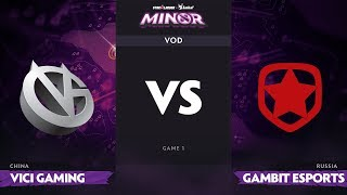 [RU] Vici Gaming vs Gambit Esports, Game 1, StarLadder ImbaTV Dota 2 Minor Grand Final