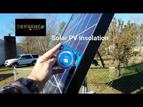 Solar PV Insolation (Solar Radiation) How To Get Your Proper Angle For December 2016 BY KVUSMC_Legjobb videók: Nap