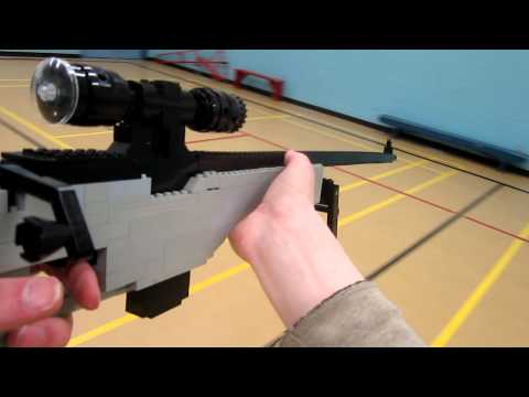 L118A - The L118A Bolt Action Sniper Rifle built entirely from LEGO! This Sniper is featured in Call of Duty: Modern Warfare 3. Here it is Life Size and from LEGO. V...