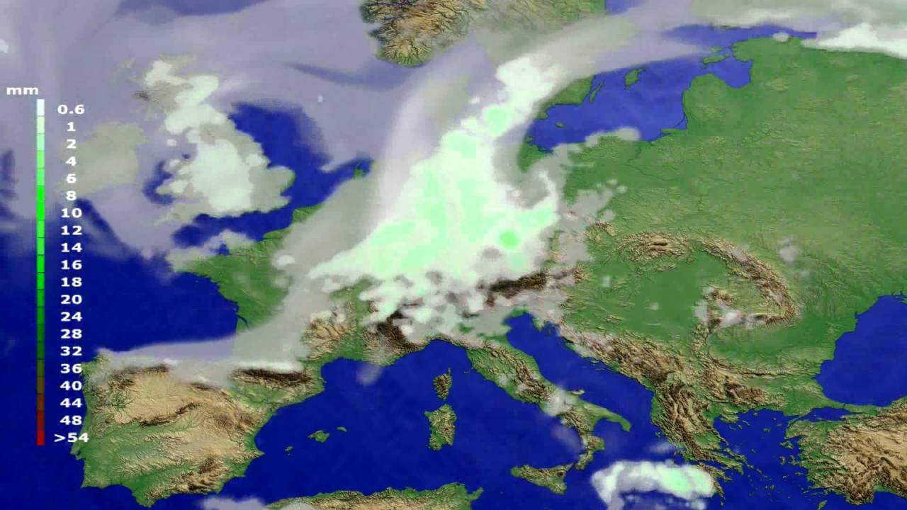 Precipitation forecast Europe 2016-06-23