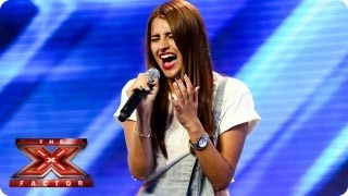 Hannah Sheares sings Sky Scraper by Demi Lovato -- Arena Auditions Week 4 -- The X Factor 2013