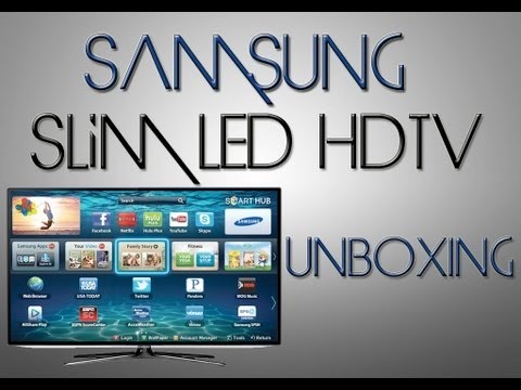 UNBOXING: Samsung 40-Inch 1080p Slim LED Smart HDTV