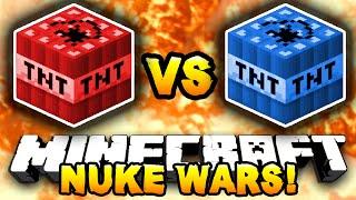 Minecraft - RED VS BLUE NUKE WARS! (Crazy TNT Battles) - w/ Preston, LogDotZip & Choco