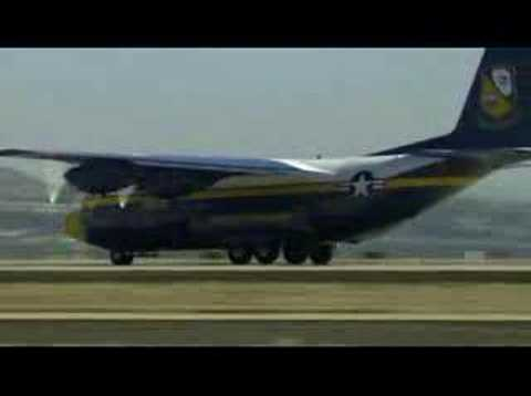 Blue Angels Fat Albert takeoff with rockets.