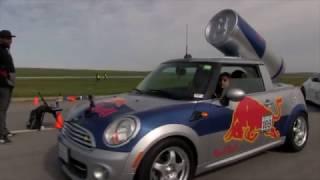 Girls take the RedBull Car 1/2 Mile Racing!