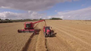 Richmond (North Yorkshire United Kingdom  City pictures : Yorkshire Harvest 2015 From Above UK
