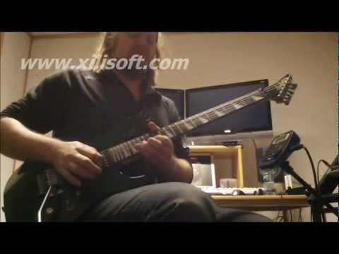 Stig alien - Guitarist Stig Nergrd (Tellus Requiem) recording a guitar solo for the song 