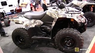 8. 2015 Suzuki King Quad 400 Camo ATV - Walkaround - 2015 Salon Chasse Peche Quebec