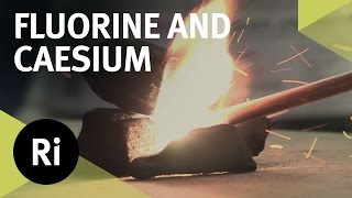 Reacting Fluorine with Caesium - First Time on Camera