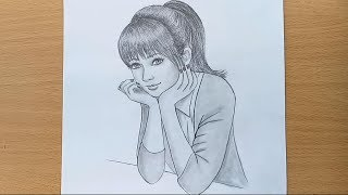 Video How to draw a girl step by step / Pencil Sketch drawing MP3, 3GP, MP4, WEBM, AVI, FLV Februari 2019