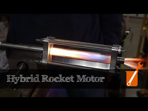 rocket - I built a small rocket engine for demonstration purposes. The engine is built from a 2