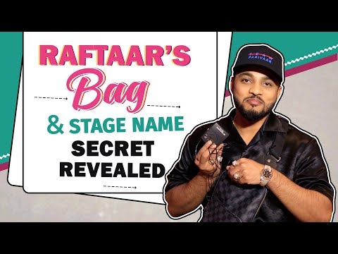 What's In Raftaar's Bag? | Stage Name