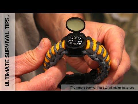 Wearable Survival Kit (18 Survival Items) Bracelet / Best EDC Paracord Bracelet