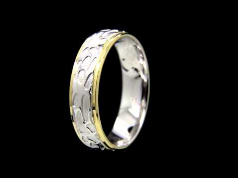 Two Tone Contemporary Gold Wedding Ring Jewellers Dublin wedding ring