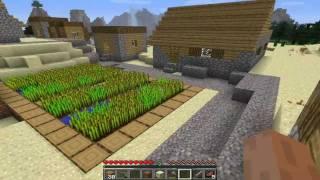 """Minecraft - Episodio 2 """"Descubro un poblado"""" Esqueleto troll"""