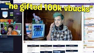 I Gifted 100k V Bucks To Ninja - Fortnite