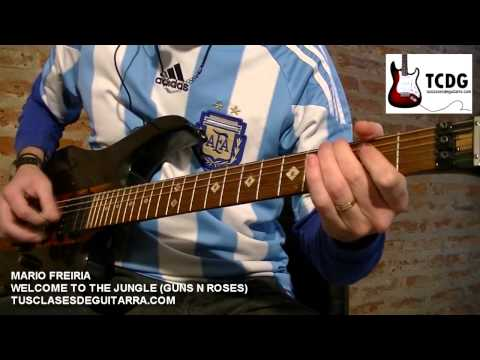 WELCOME TO THE JUNGLE (GUNS N´ ROSES) APRENDER COMO TOCAR GUITARRA: ACORDES NOTAS TABLATURA TCDG
